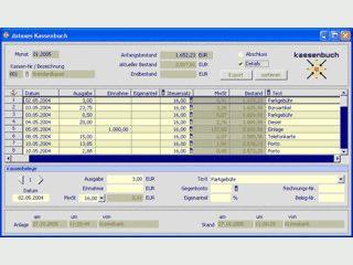 dataxes Kassenbuch ist eine einfach bedienbare Kassenbuchsoftware.