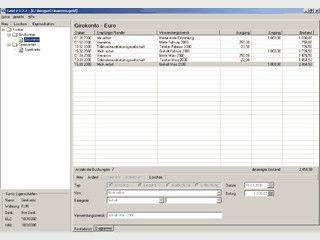Einfache Software zur Verwaltung beliebiger Konten.