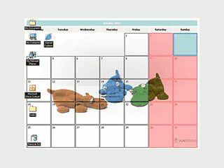 Plaziert einen aktiven Kalender auf Ihrem Desktop