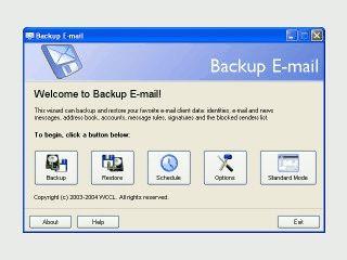 Backup Tool das auf die Sicherung der Daten von eMail Clients spezialisiert ist