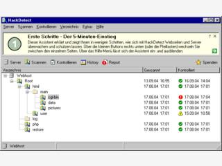 HackDetect überprüft auf Webseiten und Server auf Hacking-Angriffe