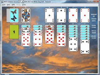 Kartenlegespiel mit vielen Optionen und Internet Bestenliste