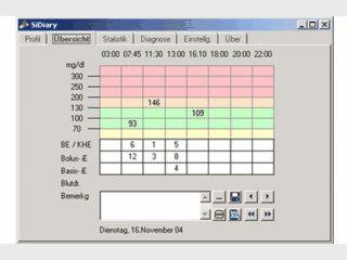 Software zur Protokollierung und Analyse von Diabetes-Daten.