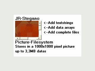 .net Komponente  zum verstecken von Texten und Dateien in Grafiken