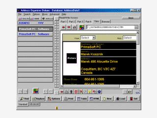 Sehr umfangreiche Adressdatenverwaltung, konvertiert auch in HTML.