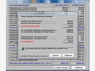 Günstigerprüfung und Steuervorteile von Verträgen mit Rüruprente berechnen