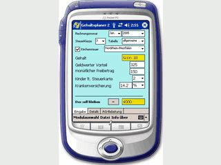 Gehaltsplaner für PDAs