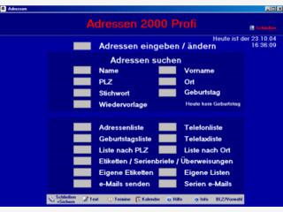 Die Adressverwaltung, die mit jedem Textprogramm zusammenarbeitet.
