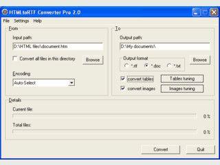 Webseiten in RTF Dateien umwandeln