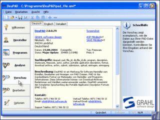 Werkzeug für Software-Hersteller zum Erstellen und Bearbeiten von PAD-Dateien.