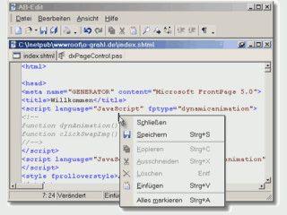 Guter Texteditor mit vielen Komfortablen Funktionen und Syntax-Highlighting