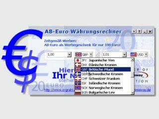 Währungsrechner mit automatischer Kursaktualisierung.