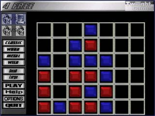 Bringen Sie vier Steine in eine Linie um das Spiel zu gewinnen.