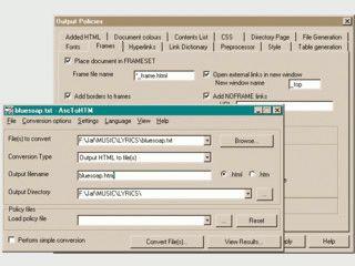 Automatische Umwandlung von Textdateien in HTML Seiten