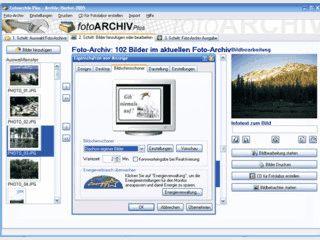 Software zur Fotoarchivierung mit vielen Funktionen wie Diashow, Screensaver usw