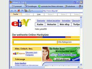 Gebote bei eBay automatisch in den letzten Sekunden abgegeben.