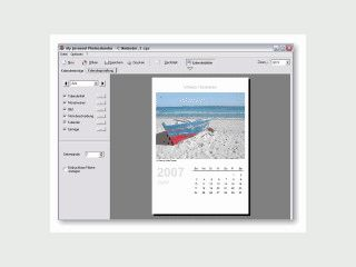 Mit diesem Programm kreieren Sie Ihre persönlichen Foto-Jahreskalender.