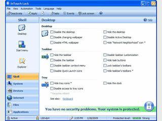 Zugriffschutz für Einstellungen, Programme, Ordner und Dateien