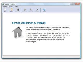 WebExe erstellt aus Internetseiten eigenständige, lauffähige Exe-Dateien.
