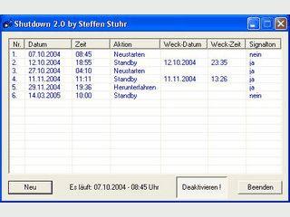 Zeitsteuerung zum Starten, Neustarten und Herunterfahren von Windows