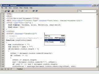 Editor für HTML, CSS, JavaScript, PHP und viele weitere Programmiersprachen