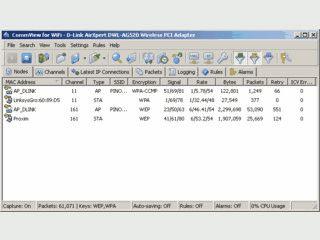Netzwerk-Sniffer für W-LAN Karten
