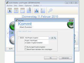 Software für die Anwesenheits- und Projekt- Zeiterfassung