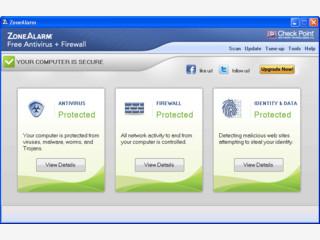Sicherheitstool gegen trojanische Pferde die Daten über das Internet senden.