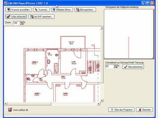 CAD-Zeichnungen in Papierform oder in Bildform in DXF-Dateien umwandeln.