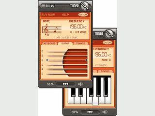 Software mit der Sie Ihre Gitarre stimmen können.