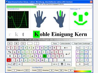Multimediales Erlernen des Zehnfingersystems.