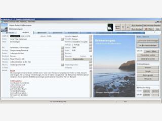 Literaturverwaltung mit automatischer Vervollständigung der Buchdaten