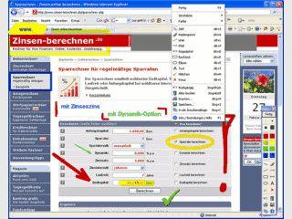 Virtueller Textmarker für Ihren Bildschirm. Zeichnet Linien, Kreise usw.