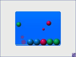 Das Spielprinzip erinnert an Defender. Einfaches Flash-Spiel