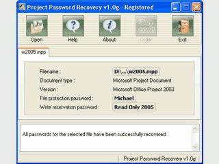 Passwort-Entschlüsselung für MS Project Dateien