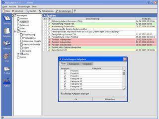 Groupware mit Terminplaner, Aufgabenverwaltung, Adressen, E-Mail und Chat.