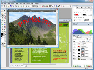 Bildbearbeitung, Layout, Vektoreditor, Bachkonverter und Webbildbearbeitung