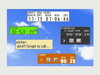Reminder, Stoppuhr, Wecker und Zeitsynchronisation