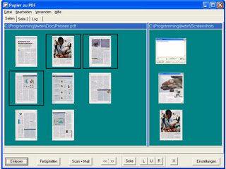 Papier zu PDF wandelt eingescannte Dokumente oder Bilder in PDF-Dateien um