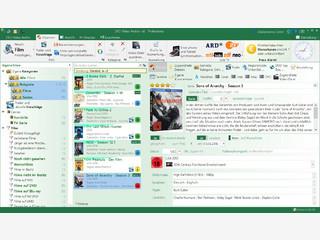 Software zur Verwaltung von Filmsammlungen mit Anschluss an eine Online-DB.