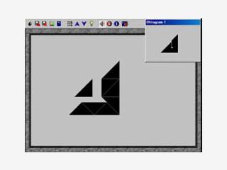 Aus acht Dreiecken müssen bis zu 950 verschiedene Figuren nachgelegt werden.