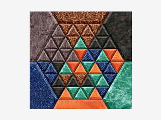 Dreiecke verdrehen um das Hexagon wieder herzustellen.