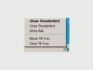 Thunderbird-Tray minimiert Mozilla Thunderbird in den System Tray.