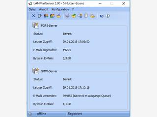 Email-Server für das lokale Netzwerk inklusive Benutzer- und Gruppenverwalt
