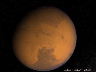 Der Mars, auch als roter Plante bekannt schont Ihren Bildschirm.
