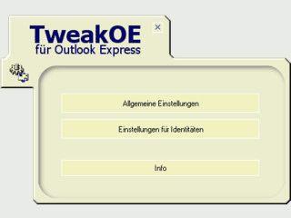 Tool zum Verändern der Einstellungen von Outlook Express.