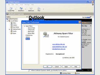 Outlook Express Plugin zum Schutz vor Spam