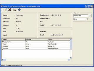 Einfache Software zur Verwaltung Ihrer Adressen