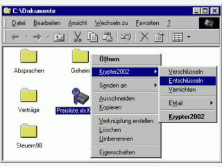 Zugriff auf einzelne Ordner/Dateien Kennwortabhängig machen.