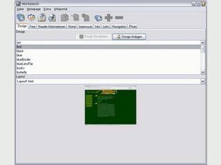 Templatebasierter HTML Editor zum Erstellen von Webseiten